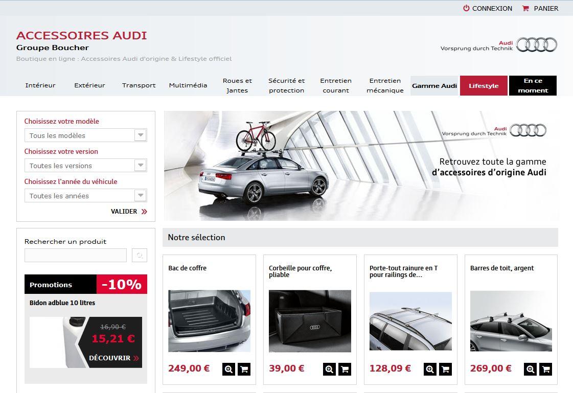 chaussures de séparation une grande variété de modèles Nouveaux produits Boutique accessoires Audi - Groupe Boucher