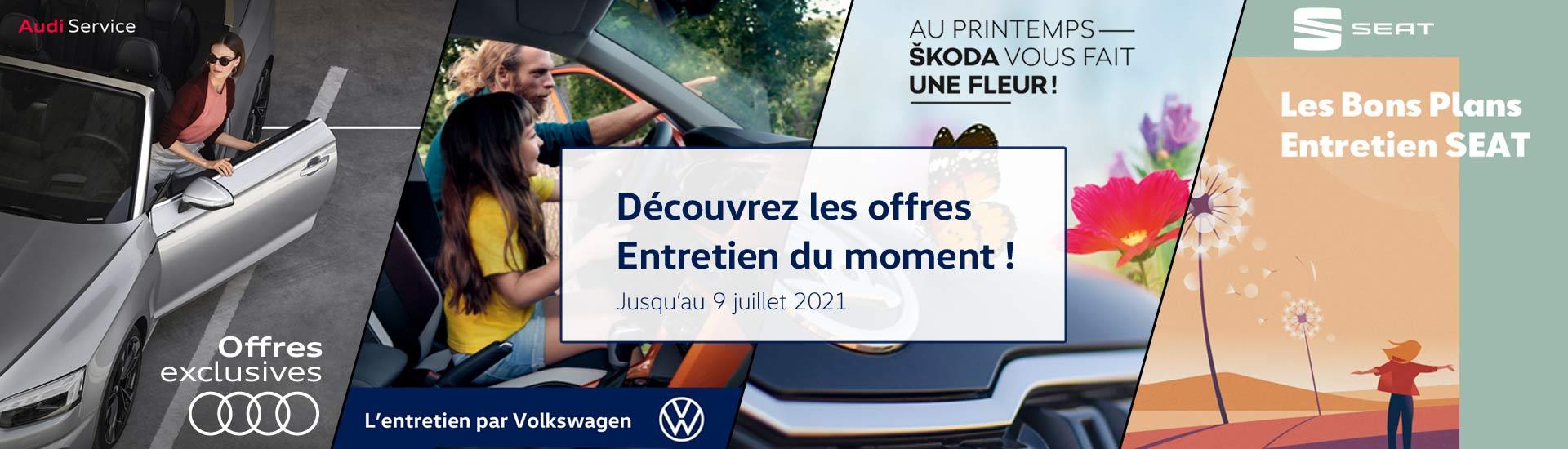 Les offres Entretien du moment - Volkswagen, Audi, Seat et Skoda à Angers et Saumur